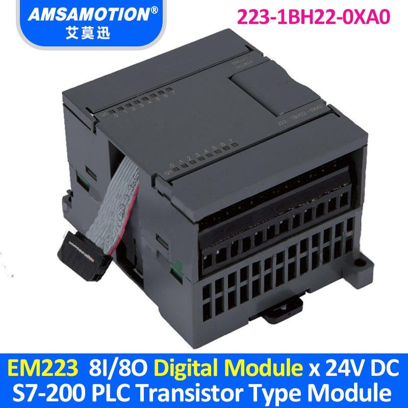 EM223 6ES7 223 1BH22 0XA0 Suitable Siemens S7 200 PLC 8I 8O Transistor Type Digital Module