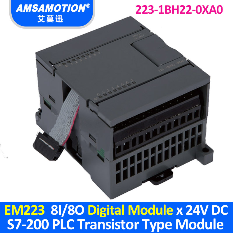 EM223 6ES7 223 1BH22 0XA0 Suitable Siemens S7 200 PLC 8I/8O Transistor Type Digital Module 223 1BH22 0XA0-in Wires & Cables from Lights & Lighting
