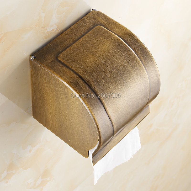 Free Shipping 2pcs A Lot Hotel Antique Copper Black Toilet Paper Roll Tissue Holder Mobile Phone Holder Bathroom/Kitchen ZR2326 black of toilet paper all copper toilet tissue box antique toilet paper basket american top hand cartons