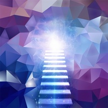 Laeacco 3D Design Stars Light Bokeh Gradient Color Photography Backgrounds Customized Photographic Backdrops For Photo Studio