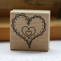 High Quality Love 5 5cm Carimbos Wooden Stamp Scrapbooking Rubber Stamps For Card Diy Stempel
