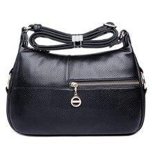 Freies Verschiffen 2017 Fashion Echtes Leder Frauen Messenger Bags frauen Einzel Umhängetaschen Satchel Bags Hohe Qualität