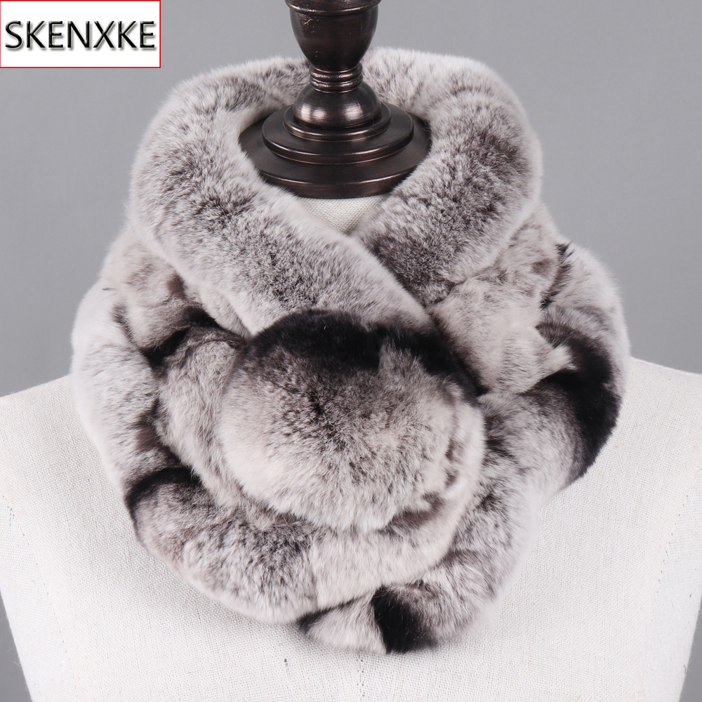 New Winter Natural Rex Rabbit Fur Ring Scarf Women Warm Real Rex Rabbit Fur Mufflers Russian Lady Genuine Rex Rabbit Fur Scarves