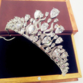 2017 New Hot European Luxurou  Royal Tiaras And Crowns All Zirconia Zircon White Gold Plated CZ For Kids Girl Wedding King's