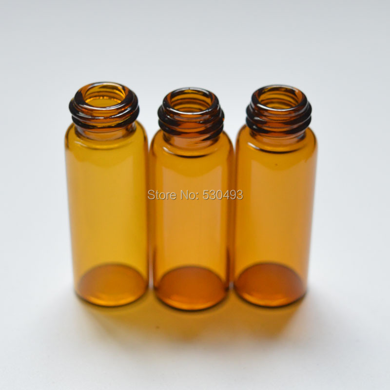 100pcs 5ml Mini Glass Bottle with Orifice Reducer and Screw Cap Small Essential Small perfume Sample