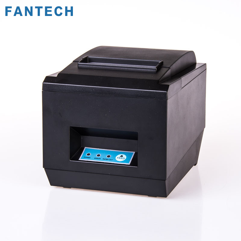 FANTECH High quality 80mm thermal receipt bill printers Kitchen Restaurant POS printer With automatic cutter function nt8250 zj 8002 80mm bluetooth2 0 android pos receipt thermal printer bill machine for supermarket restaurant black color eu plug