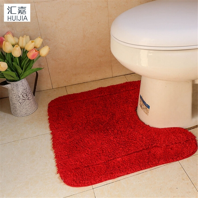 U Shape Toilet Bath Mat High Quality 5 Color Bathroom Anti Slip Super Absorbent Area Rug And Carpets Throw Tapetes