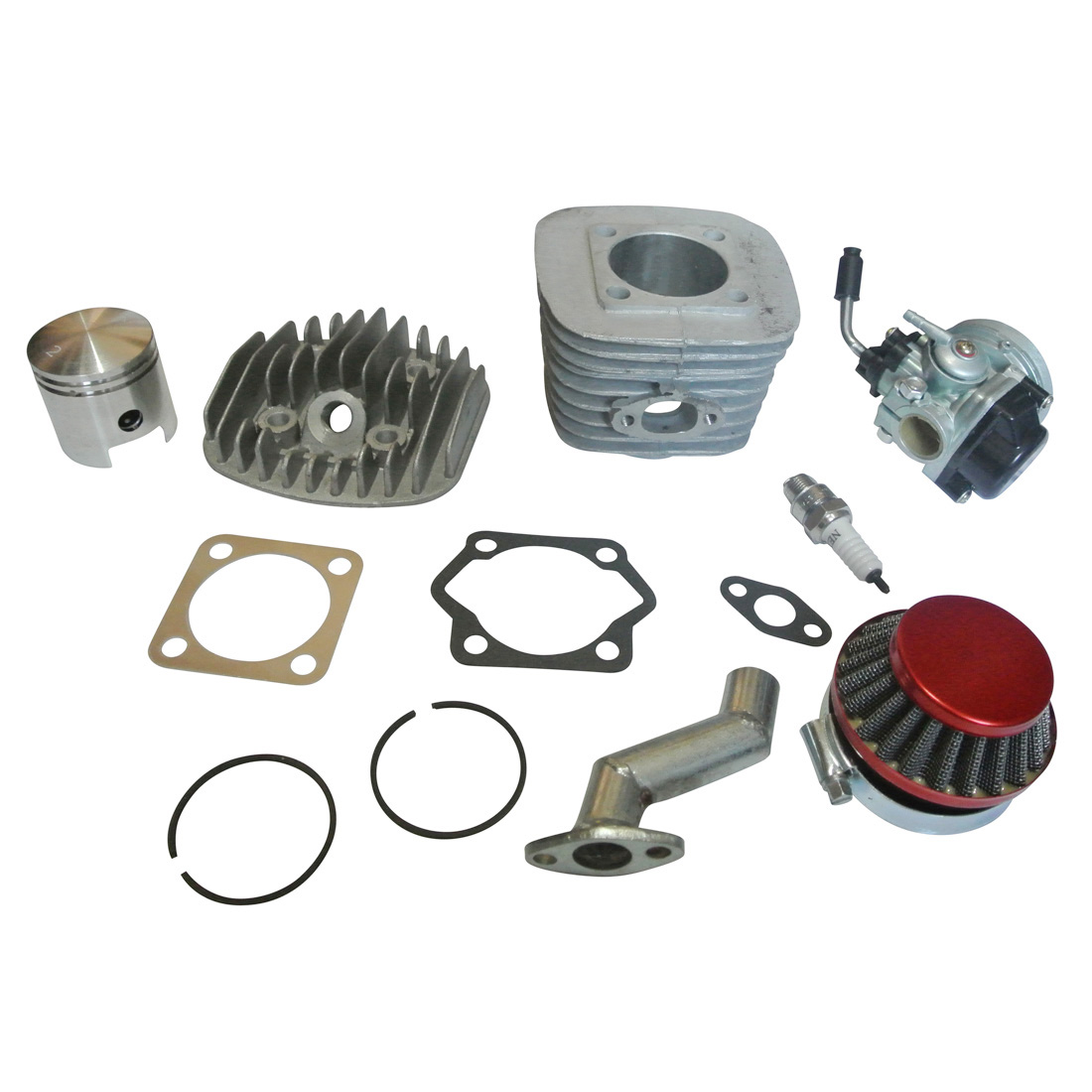 80cc 2 Stroke Motor Engine Kit Carburettor Cylinder Head & Gasket Air Filter