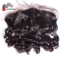 Sunnymay 13x6 Lace Frontal Closure Loose Wave Malaysian Virgin Hair Ear to Ear Pre Plucked With Baby Hair Human Hair Frontal