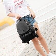 A1735 модные женские туфли рюкзак высокое качество молодежи из мягкой искусственной кожи Рюкзаки для девочек-подростков Женский школьная сумка рюкзак