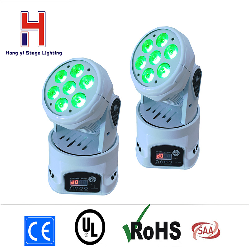 (2 pieces/lot) LED Moving Head Mini wash 7x12w RGBW Quad with advanced 14 channels LED effect stage light(2 pieces/lot) LED Moving Head Mini wash 7x12w RGBW Quad with advanced 14 channels LED effect stage light