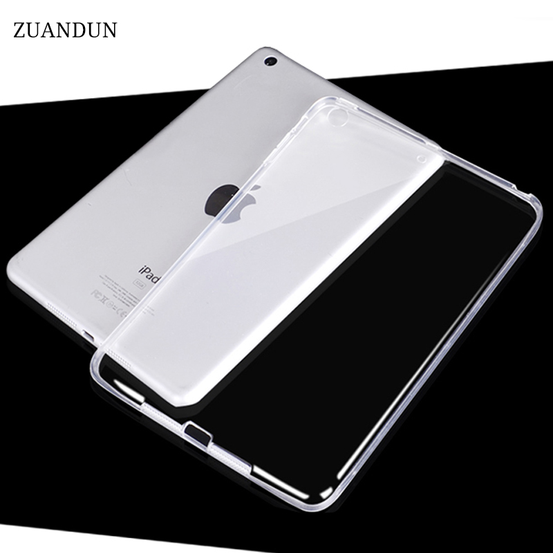 ZUANDUN Silicone Case For iPad 9.7 inch Transparent Clear Case 2017 For New iPad 2017 Slim Soft TPU Back Cover model A1822 nice soft silicone back magnetic smart pu leather case for apple 2017 ipad air 1 cover new slim thin flip tpu protective case