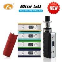Original KS Mini 50 Kit 50W E Cigarette Smallest Box Mod With 2ml D2 Tank Electronic
