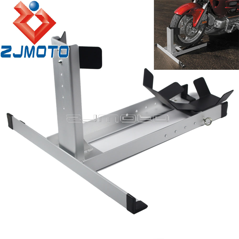 "Universal Motorcycle Wheel Chock Floor Stand Chopper Work Stand Trailer Chock For 14""-22"" Wheel 80-220mm Wide Wheels"