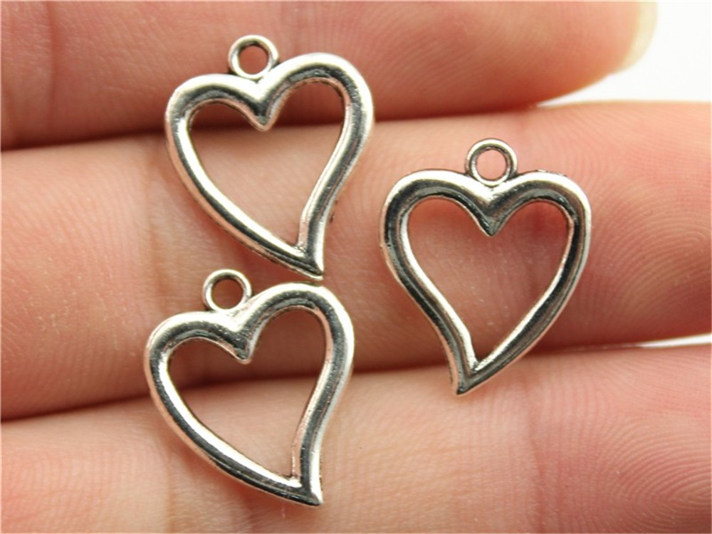 Antique Bronze Hollow Heart Charms Pendant For Jewelry Making As Effectively As A Fairy Does Objective Wysiwyg 15pcs 18x15mm 3 Colors Antique Gold Antique Silver