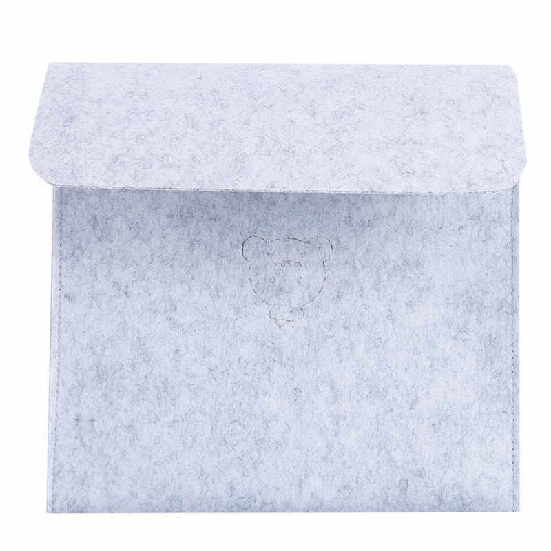Creative Felt Bedside Storage Bag Bedroom Storage Organizer Magazine Pouch Tissue Box Finishing Bag Wall Phone Holder Pocket