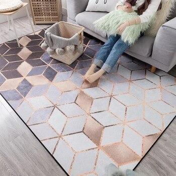 Nordic style metallic luster striped living room carpet, fashion big size bedside carpet,  decoration office carpet 140*200cm