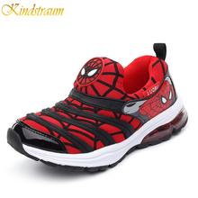Kindstraum 2017 New Fashion Kids Sports Shoes 4 Colors Boys Spiderman Sneakers Children Breathable Brand Caterpillar Shoes,MJ029