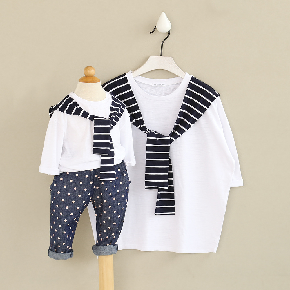 52c2ec27 2 pieces/lot Family look clothing children new spring false two ...