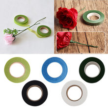 30yard/roll 12mm Multicolor Floral Stem Wrap Florist Artificial Flower Metallic Tape Wire Floristry Decoration Gift Packing(China)