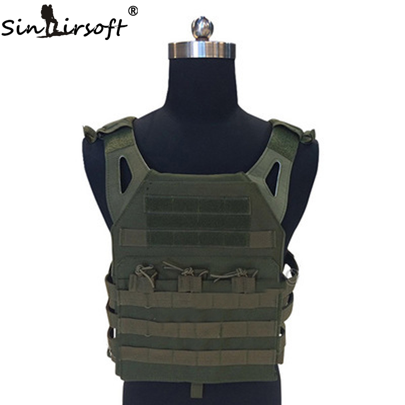 SINAIRSOFT Tactical Vest 600D Military Plate Carrier Ammo Chest Rig JPC Vests Airsoft Paintball Gear Body Armor Hunting Vest airsoft adults cs field game skeleton warrior skull paintball mask