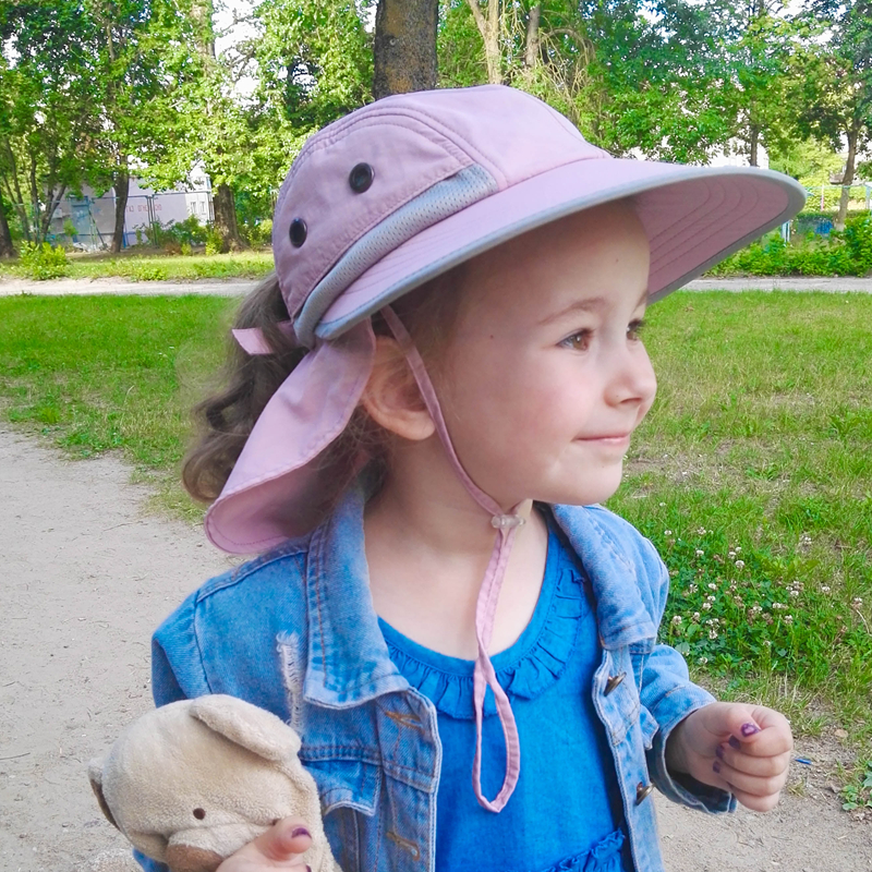 FURTALK Summer Hat Kids Girls Boy Sun Hat With Neck Flap Baby Waterproof Safari Sun Protection Travel Hat Child Summer Cap 2019