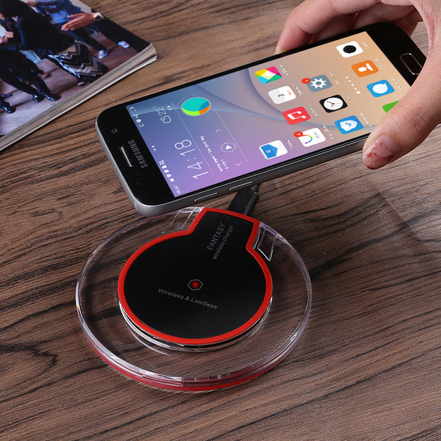 58e5a85709a Universal Qi Wireless Charger S8 Plus Original Charging Pad Receiver For  Samsung S7 S6 edge Note 5 Wireless Charging for iPhone