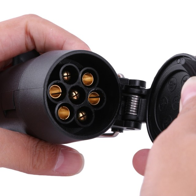 Novo Conector De Fio 7 A Pino Adaptador Fiação Conector 12 V de Reboque Reboque com Cabo Tomada de Alta Qualidade