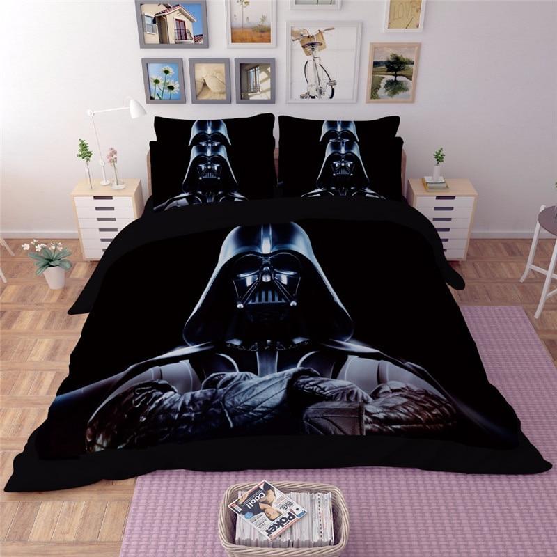 Popular Star Wars 3pcs 3D Bedding Sets black Duvet Cover sets pillowcase single double Queen king