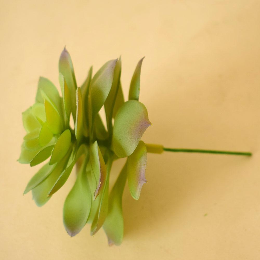 Small Mini Green Artificial Succulents Plants Fake Plastic Leaves ...