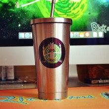 Новинка 550 мл Рик и Морти мир среди миров нержавеющая сталь Кофе Чай соломенная чашка кружка
