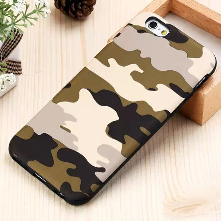 huge selection of 1598b 46bf5 US $133.0 |50x Hot Sale Fashion Camo Hybrid TPU Leather Case for iPhone 6  4.7'' 6 Plus 5.5'' Soft Skin Back Cover Camouflage Phone Case on ...