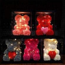 1 шт., 15 см/20 см, форма из пенопласта «розовый медведь», сделай сам, Искусственный цветок розы, медведь, свадебное украшение, день рождения, вечеринка, детский подарок на день Святого Валентина-C