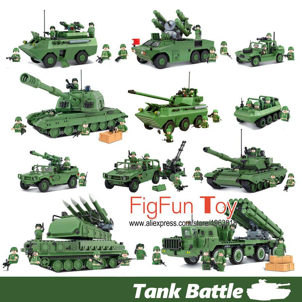 Russian Military T90 Tank Chinese Humvee Hmmwv Rocket Missile Launcher Atv Building Blocks Army Soldier Vehicle Gun DIY Kids Toy the new hot promotions 1 30 military vehicles dongfeng 11a missile launch vehicle model alloy office decoration