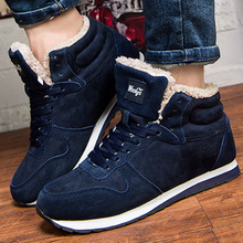 2019 New Men ankle boots plus size 10.5-14 Short plush Winter snow for men Non slip Warm Velvet