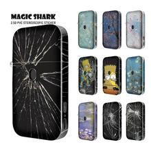 Magic Shark Shattered Glass Simpson Flower Plum Blossom Stereo 2.5D Wrap Film Skin Case Sticker for AURORA PLAY