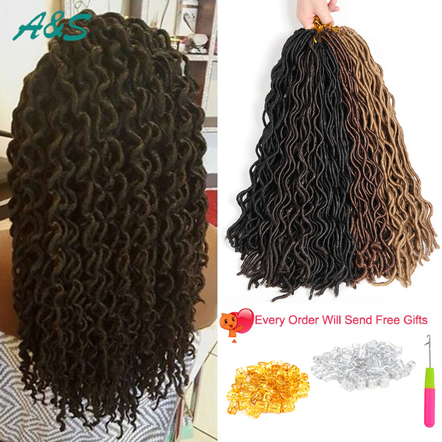Beautiful Crochet Braids Natural Looking Curly Faux Locs 20 24roots