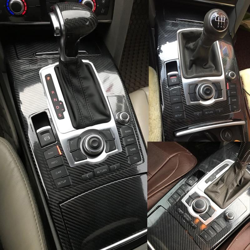 Car-Styling 5D Carbon Fiber Car Interior Center Console Color Change Molding Sticker Decals For Audi A6 C6 C7 2005-2018