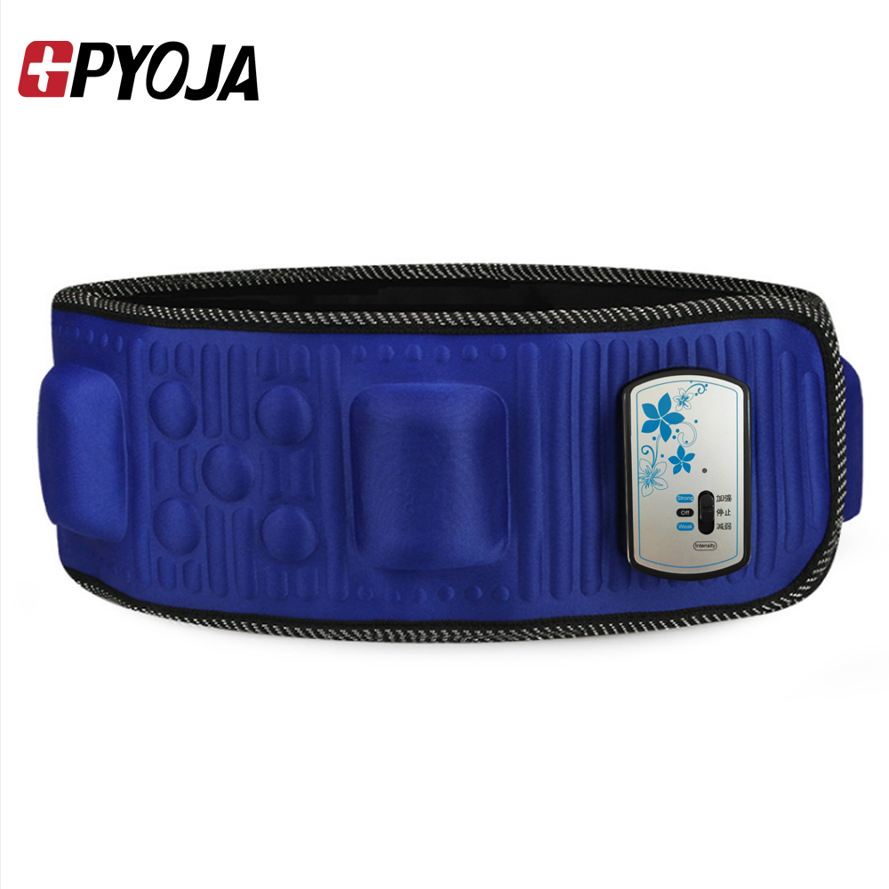 GPYOJA Fat Burning Electric Vibration Massage Belt Portable Exercise Diet Slimming Waist Belt Infrared Heating Unisex elastic thin slimming belt magic waist abdomen massage belt black