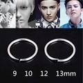 Silver Plated Stainless Steel Hoop Earrings Huggie Simple Style Circle GD Hoop Earring K Pop Fashion Women&Man Piercing Jewelry