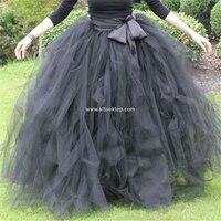 Floor length 100CM long tulle skirt adult vintage American party Lolita tutu skirt women apparel girls petticoat dolly sun skirt