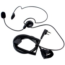 2016 Advanced Unilateral headphone Mic Finger PTT Neckband Earpiece Cycling Field Tactical Headset for Kenwood BAOFENG Radio