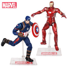 7 ''Marvel Avengers Infinity Guerra Thanos Spiderman Hulk Iron Man Capitan America Visione Falcon Action Figure Giocattoli Bambole(China)