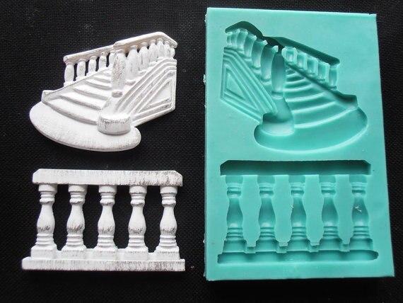 Geländer Treppen silikon fandont form schritte silikagel formen Treppen schokoladenformen süßigkeitform geländer silikonformen