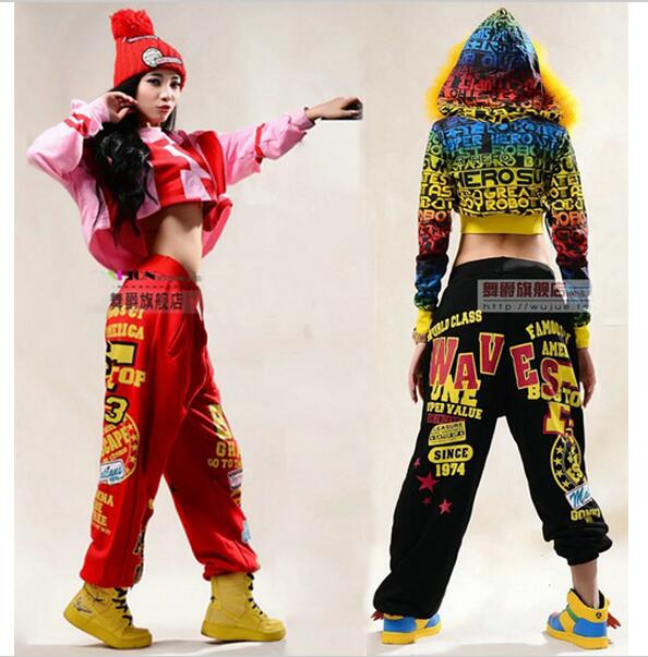 Hot! 2017 Fashion brand Young Girls Trousers Performance wear sweatpants costume female knitted loose harem Hip hop dance pants printed men jeans fashion embroidered cotton man cargo pants famous brand colorful denim trousers hip hop zipper men harem pants