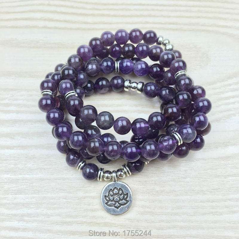 SN1147 New Design 108 Mala Buddha Bracelet or Necklace Reiki Charged Buddhist Rosary Yoga Bracelet Wrap