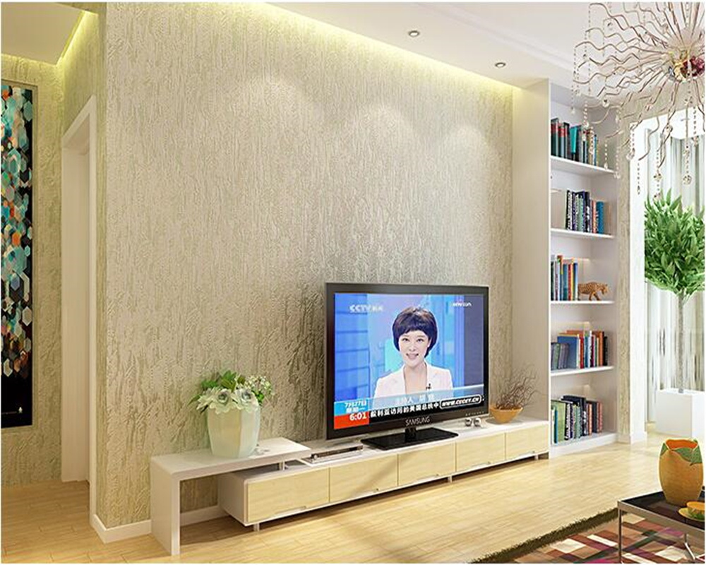 study background simple wall modern bedroom classic 3d living beibehang woven non