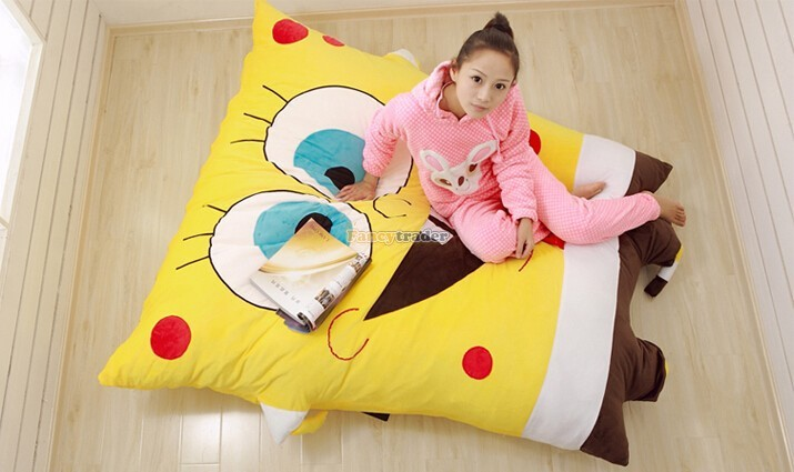 Fancytrader 190cm X 140cm Huge Giant Cute Spongebob Bed Carpet Sofa Tatami, Free Shipping FT90349 (3)