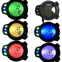 1pcs ABS Motorcycle Instruments 10000 RMP LCD Digital Backlight Speedometer Tachometer Gauge for Yamaha Zuma BMK X125 YW125 BWS