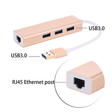 suqy USB Ethernet Adapter 3 Port USB 3.0 2.0 HUB 10/100/1000 Mbps Usb to RJ45 Gigabit Network Card LAN Adapter Usb Ethernet